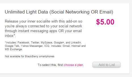 Mobilicity Light Data